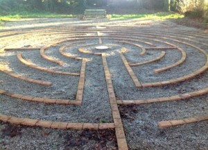 Labyrinth at St Beuno's retreat centre in North Wales