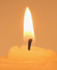 Meditation candle used for meditation in surrey with Gillian Lenane